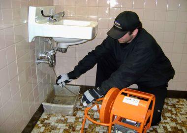 clogged drain open